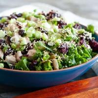 Leftover Turkey Kale Salad