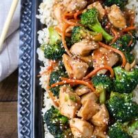 Rotisserie Chicken and Broccoli Stir Fry
