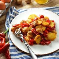 Zesty Potato and Pepper Hash