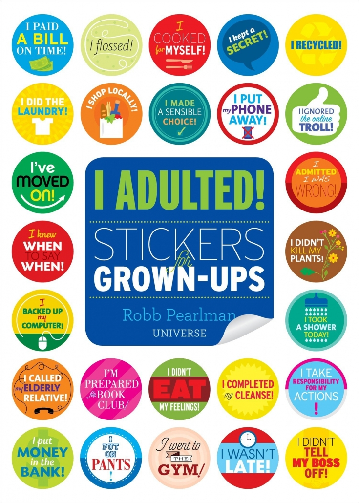 I Adulted! Sticker Book