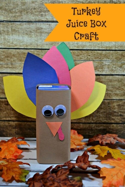 Turkey Juice Box Craft for Thanksgiving