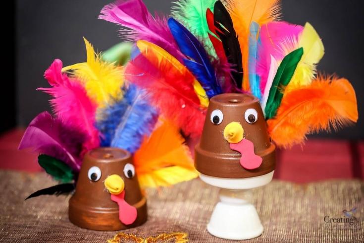 Easy Clay Pot Turkey Craft