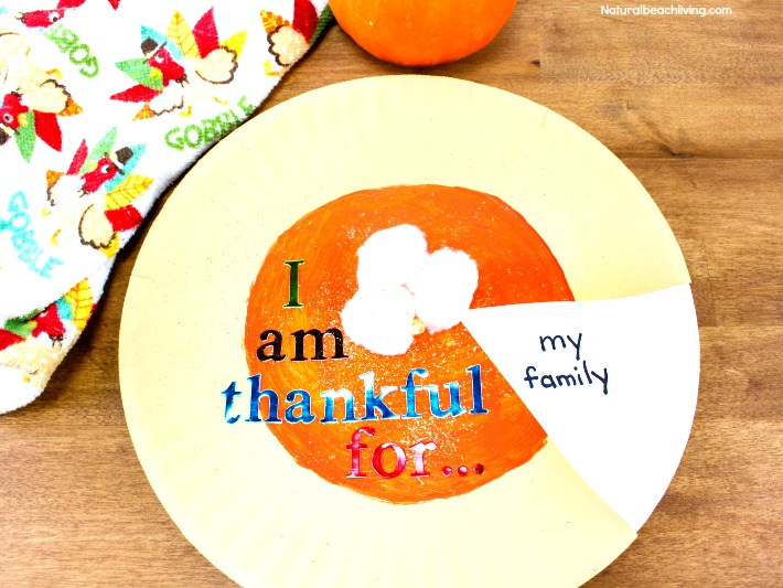 Best Easy to Make I Am Thankful Craft for Kids