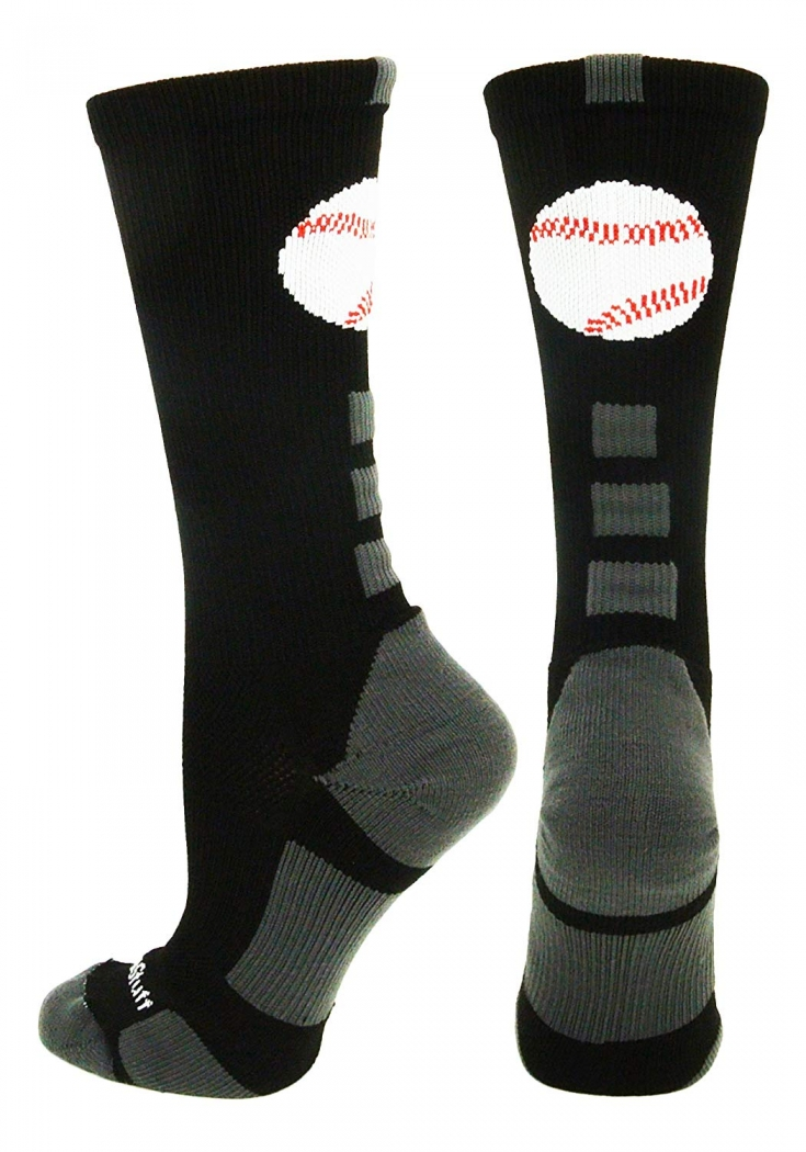 Baseball Logo Athletic Crew Socks