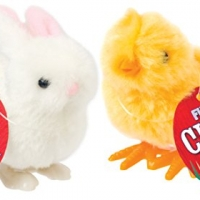 Happy Hopper Fuzzy Chick and Easter Bunny Wind up Plush