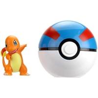 Wicked Cool Toys Pokémon Clip 'N' Go - Charmander & Great Ball Poké Ball
