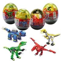 4 Pack Dinosaur Building Blocks