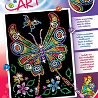 Sequin Art Red, Butterfly, Sparkling Arts and Crafts Picture Kit