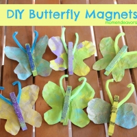 Kids Craft: DIY Butterfly Magnets