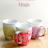 DIY Marbled Nail Polish Mugs