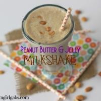 Peanut Butter & Jelly Milkshake from 50's Prime Time Cafe