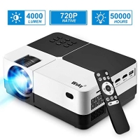 Projector, 1080P and 176'' Display Outdoor HD Movie Projector