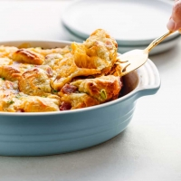Ham and Cheese Pull-Apart Bread Casserole