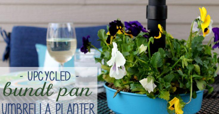 Bundt Pan Umbrella Planter