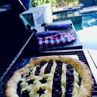 Grill-Baked Blueberry Pie