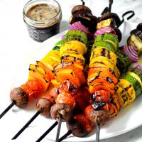Rainbow Grilled Veggie Kebabs