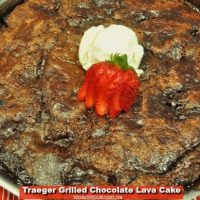 Grilled Chocolate Lava Cake
