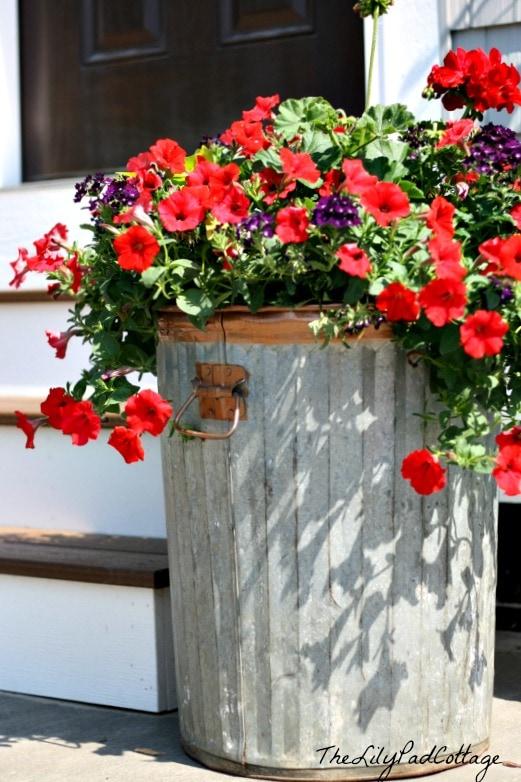 Garbage Can Flower Planter