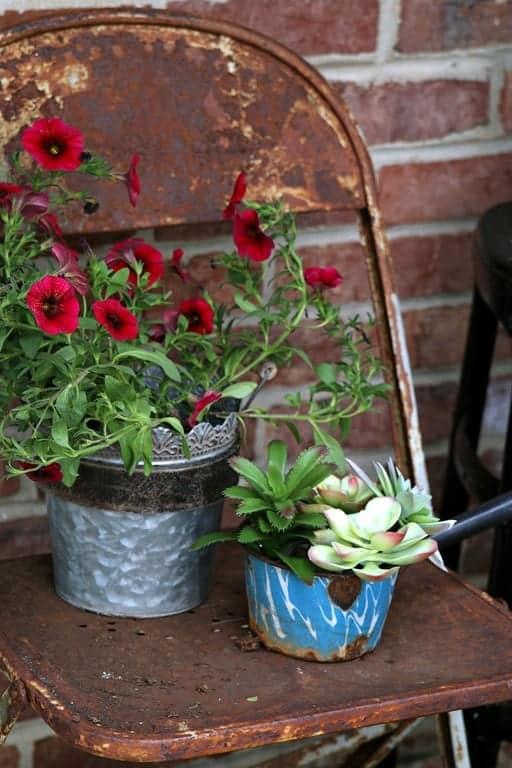 Tea Kettle Flower Pots