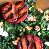 Grilled Plumcot Salad with Toasted Walnut Vinaigrette