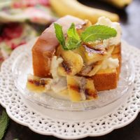 Grilled Pound Cake With Limoncello Bananas