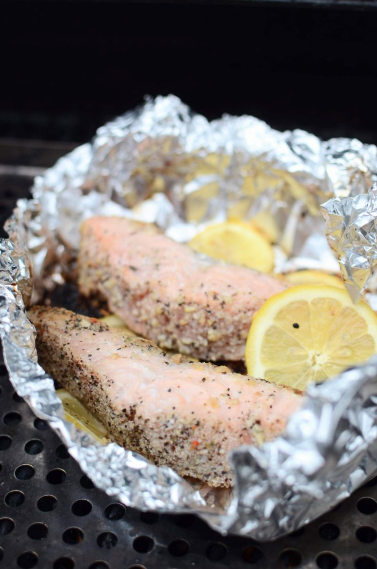 Grilled Salmon in Foil Packs