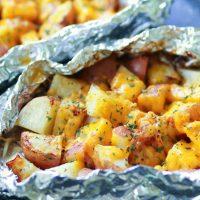 Cheesy Ranch Potato Foil Packs