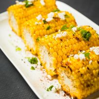 Grilled Sweetcorn With Feta & Chilli